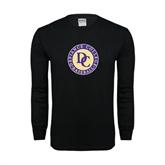 Black Long Sleeve TShirt-Defiance College Baseball