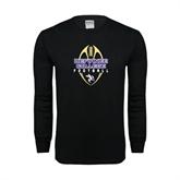 Black Long Sleeve TShirt-Tall Football Design