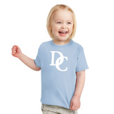 Toddler Light Blue T Shirt-Interlocking DC