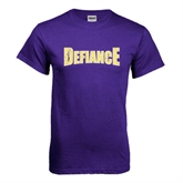 Purple T Shirt-Defiance Distressed