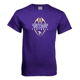 Purple T Shirt-Tall Football Design