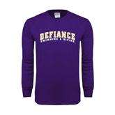 Purple Long Sleeve T Shirt-Swimming & Diving