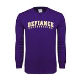Purple Long Sleeve T Shirt-Cheerleading