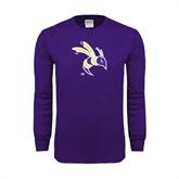 Purple Long Sleeve T Shirt-Yellow Jacket