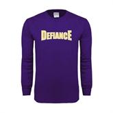 Purple Long Sleeve T Shirt-Defiance