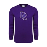 Purple Long Sleeve T Shirt-DC Football