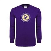 Purple Long Sleeve T Shirt-Defiance College Baseball