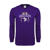 Purple Long Sleeve T Shirt-Graphics in Basketball