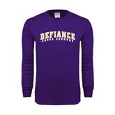 Purple Long Sleeve T Shirt-Cross Country