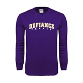 Purple Long Sleeve T Shirt-Tennis