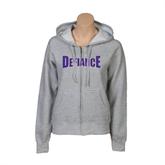 ENZA Ladies Grey Fleece Full Zip Hoodie-Defiance