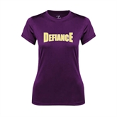 Ladies Syntrel Performance Purple Tee-Defiance