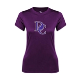 Ladies Syntrel Performance Purple Tee-DC Football