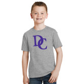 Youth Grey T-Shirt-Interlocking DC