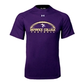 Under Armour Purple Tech Tee-Flat Football Design