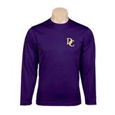 Syntrel Performance Purple Longsleeve Shirt-Interlocking DC