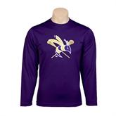 Syntrel Performance Purple Longsleeve Shirt-DC Crossed Lacrosse Sticks