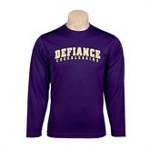 Syntrel Performance Purple Longsleeve Shirt-Cheerleading