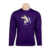 Syntrel Performance Purple Longsleeve Shirt-Yellow Jacket