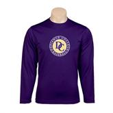 Syntrel Performance Purple Longsleeve Shirt-Defiance College Baseball