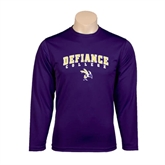 Syntrel Performance Purple Longsleeve Shirt-Arched Defiance College