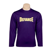 Syntrel Performance Purple Longsleeve Shirt-Defiance Distressed