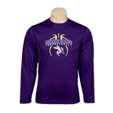 Syntrel Performance Purple Longsleeve Shirt-Graphics in Basketball