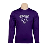 Syntrel Performance Purple Longsleeve Shirt-Graphics on Basketball