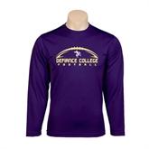 Syntrel Performance Purple Longsleeve Shirt-Flat Football Design