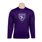Syntrel Performance Purple Longsleeve Shirt-Soccer Shield