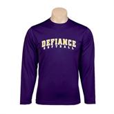 Syntrel Performance Purple Longsleeve Shirt-Softball