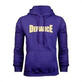 Purple Fleece Hood-Defiance