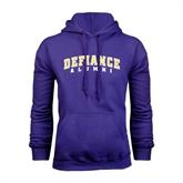 Purple Fleece Hood-Alumni