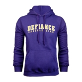 Purple Fleece Hood-Cheerleading