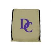 Nylon Vegas Gold Drawstring Backpack-Interlocking DC