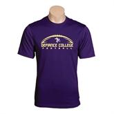 Syntrel Performance Purple Tee-Flat Football Design
