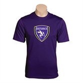 Syntrel Performance Purple Tee-Soccer Shield