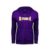 ENZA Ladies Purple Fleece Full Zip Hoodie-Defiance