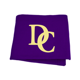 Purple Sweatshirt Blanket-Interlocking DC