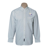 Mens White Oxford Long Sleeve Shirt-Yellow Jacket