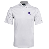 Nike Dri Fit White Pebble Texture Sport Shirt-Interlocking DC