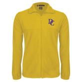 Fleece Full Zip Gold Jacket-Interlocking DC