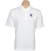 Nike Golf Tech Dri Fit White Polo-Interlocking DC