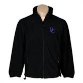 Fleece Full Zip Black Jacket-Interlocking DC