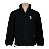 Fleece Full Zip Black Jacket-Yellow Jacket