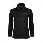 Ladies Fleece Full Zip Black Jacket-Defiance