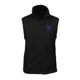 Fleece Full Zip Black Vest-Interlocking DC