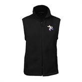 Fleece Full Zip Black Vest-Yellow Jacket