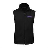 Fleece Full Zip Black Vest-Defiance
