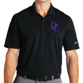 Nike Golf Dri Fit Black Micro Pique Polo-Interlocking DC